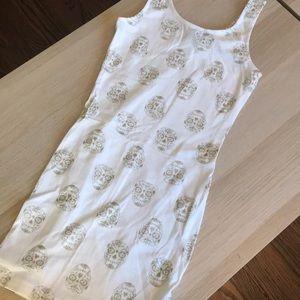 NWOT H&M White-Skull Tank-Dress